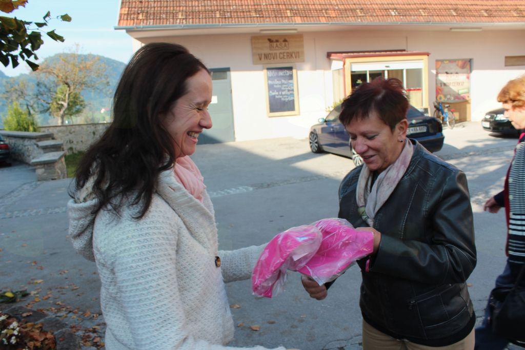 Helena Kuzman, organizatorka dogodka, in Boža Prevolnik
