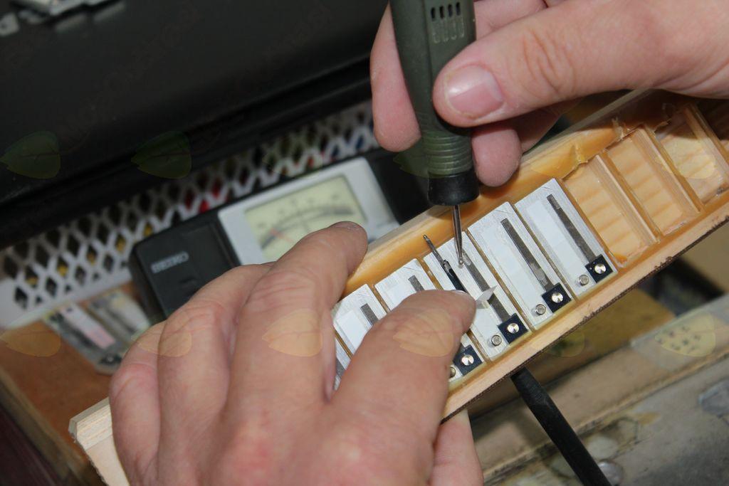 Uglaševanje harmonike zahteva veliko znanja in potrpežljivosti.