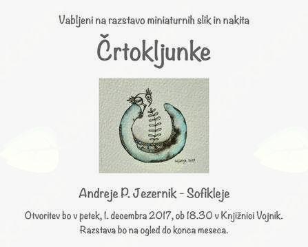 Knjižnica Vojnik vabi na razstavo Črtokljunke