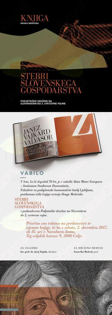 »Stebri slovenskega gospodarstva« s podnaslovom Podjetniške družine na Slovenskem do 2. svetovne vojne