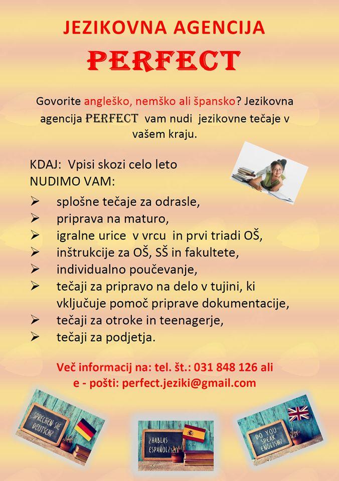 Po znanje tujega jezika k Jezikovni agenciji Perfect