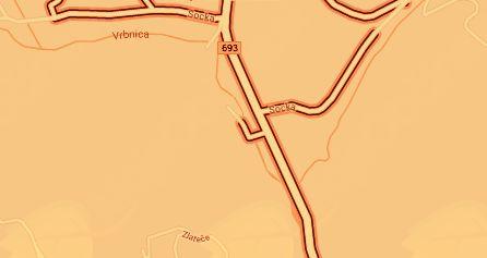 Regionalna cesta R3-693 Razdelj–Socka je preplastena