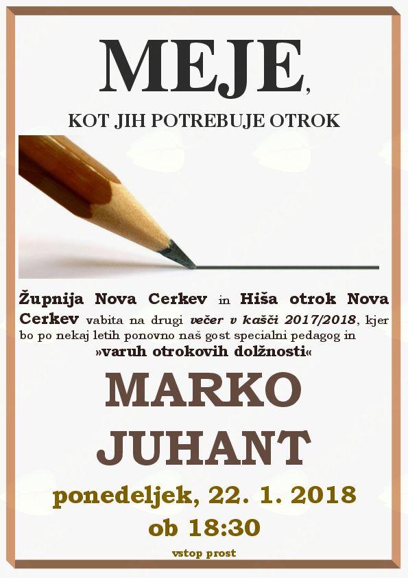 Marko Juhant: Vzgoja ni govorjenje, ampak je vzgoja tisto, kar naredimo