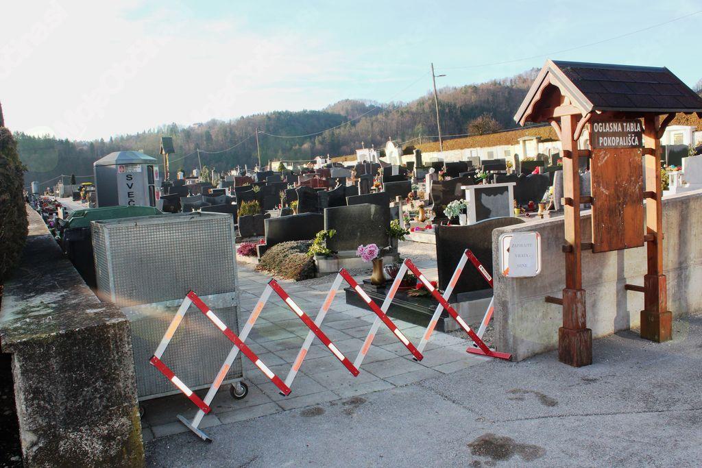 Vdor srn na pokopališču v Novi Cerkvi je pogost.