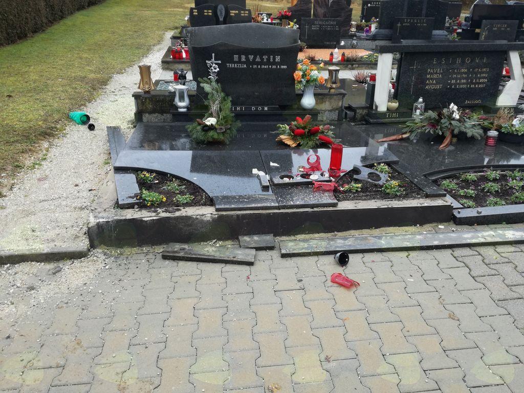 Vandalizem na pokopališču