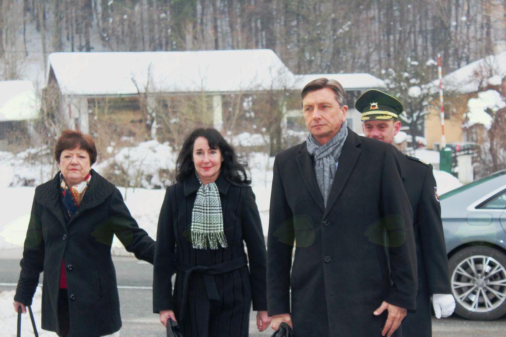 Predsednik RS Borut Pahor s Tanjo Pečar