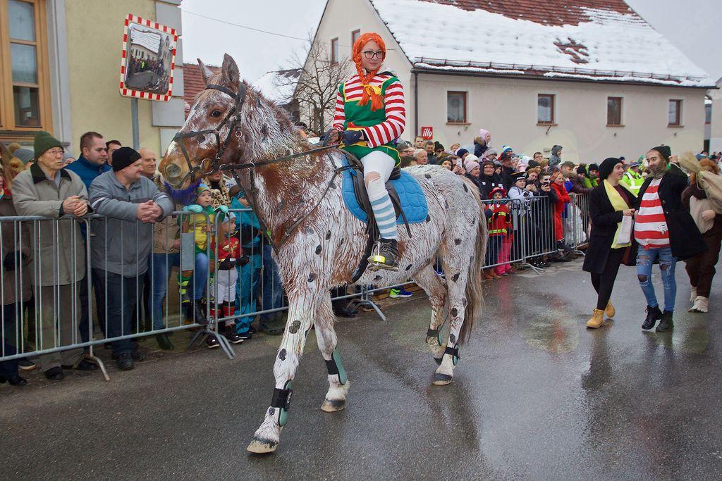 7. in 8. razred OŠ Antona Bezenška Frankolovo so na karneval poslali Piko Nogavičko s prijatelji.