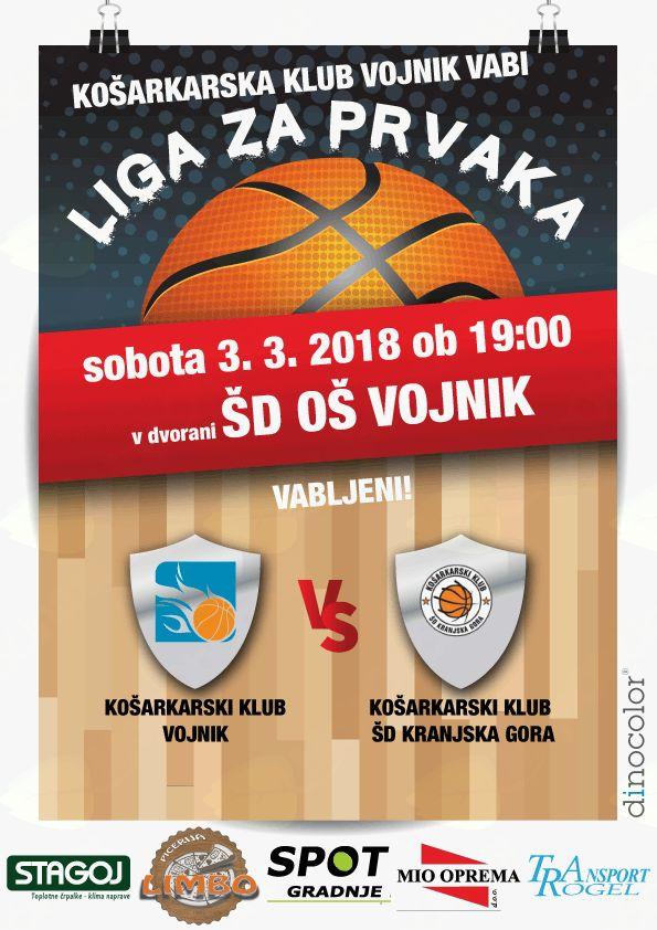 Liga za prvaka med KK Vojnik in KK ŠD Krajnska Gora