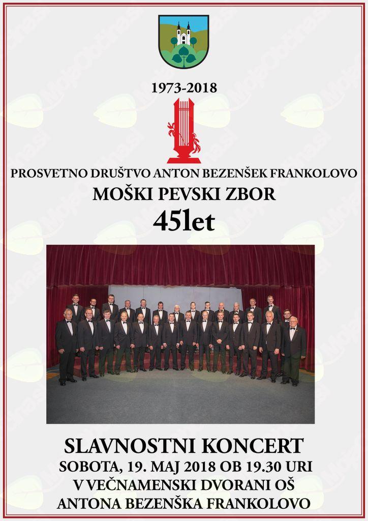 Slavnostni koncert Moškega pevskega zbora Anton Bezenšek Frankolovo