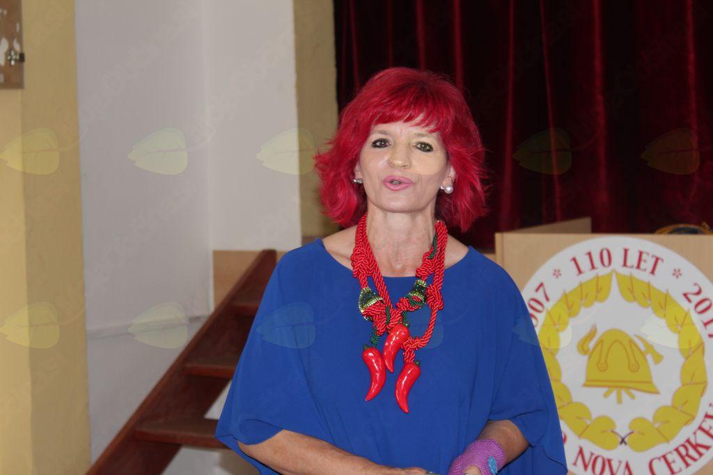 Marijana Kolenko je vedno pripravljena sodelovati na prireditvah v Novi Cerkvi.