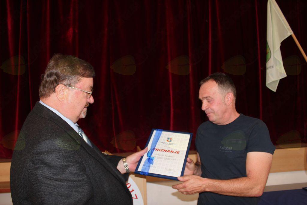 Andrej Ramšak med podelitvijo priznanja
