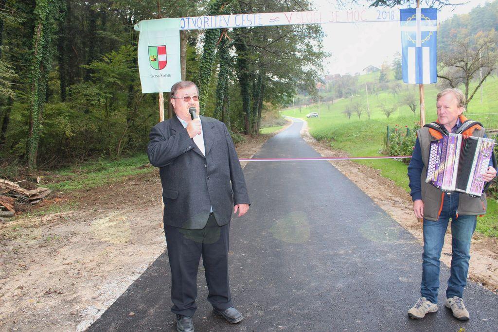 Odprtje asfaltirane ceste v Polžah