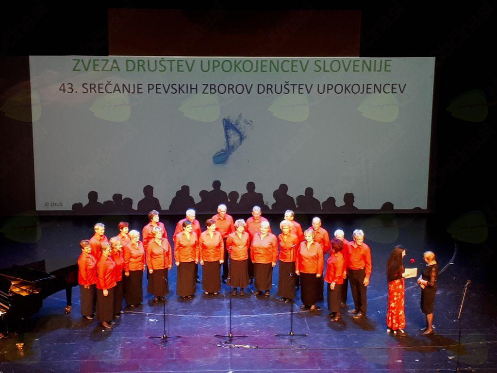 Na 43. srečanju pevskih zborov Društev upokojencev Slovenije