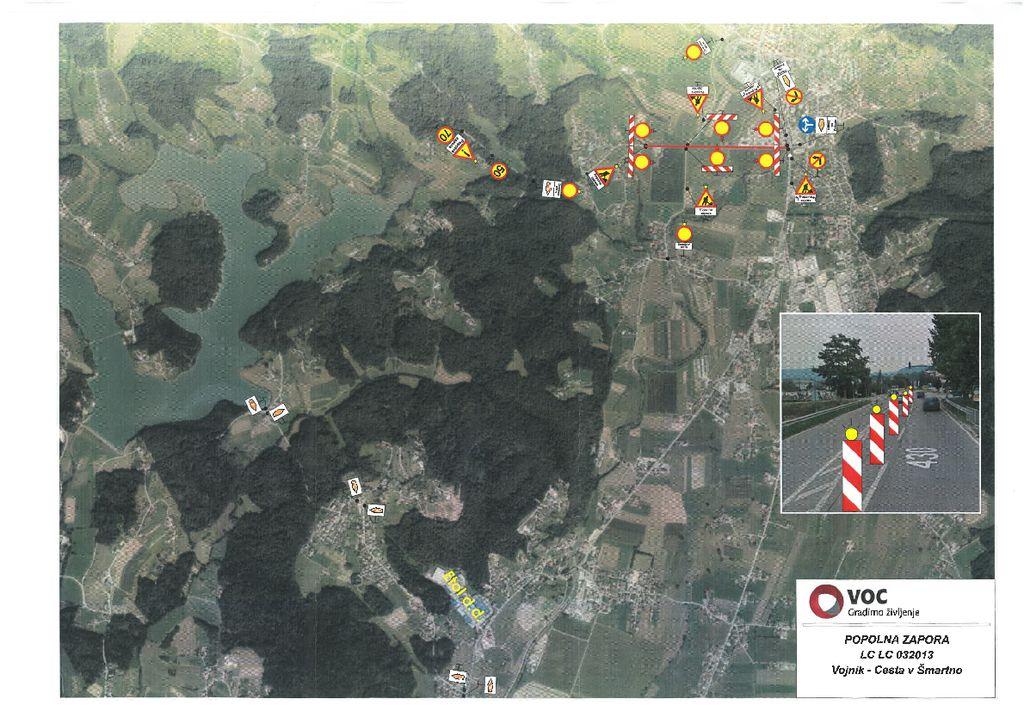 Dodatno obvestilo: Obvestilo o postavitvi popolne zapore lokalne ceste LC 032013 Vojnik – Cesta v Šmartno, na odseku Vojnik - Gmajna do 18. 6. 2019