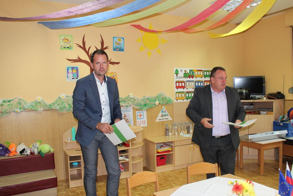 Vojko Orlčnik, direktor PEOR, d. o. o., in župan Branko Petre