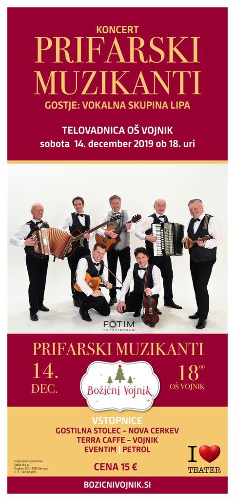 Koncert ob odprtju Božičnega Vojnika: Prifarski muzikanti z gostjami