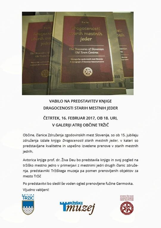 Dragocenosti starih mestnih jeder - predstavitev knjige