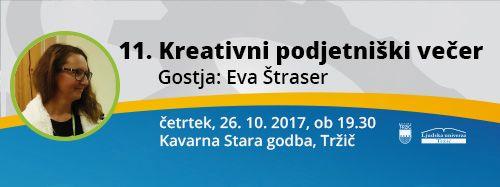 11. Kreativni podjetniški večer z Evo Štraser
