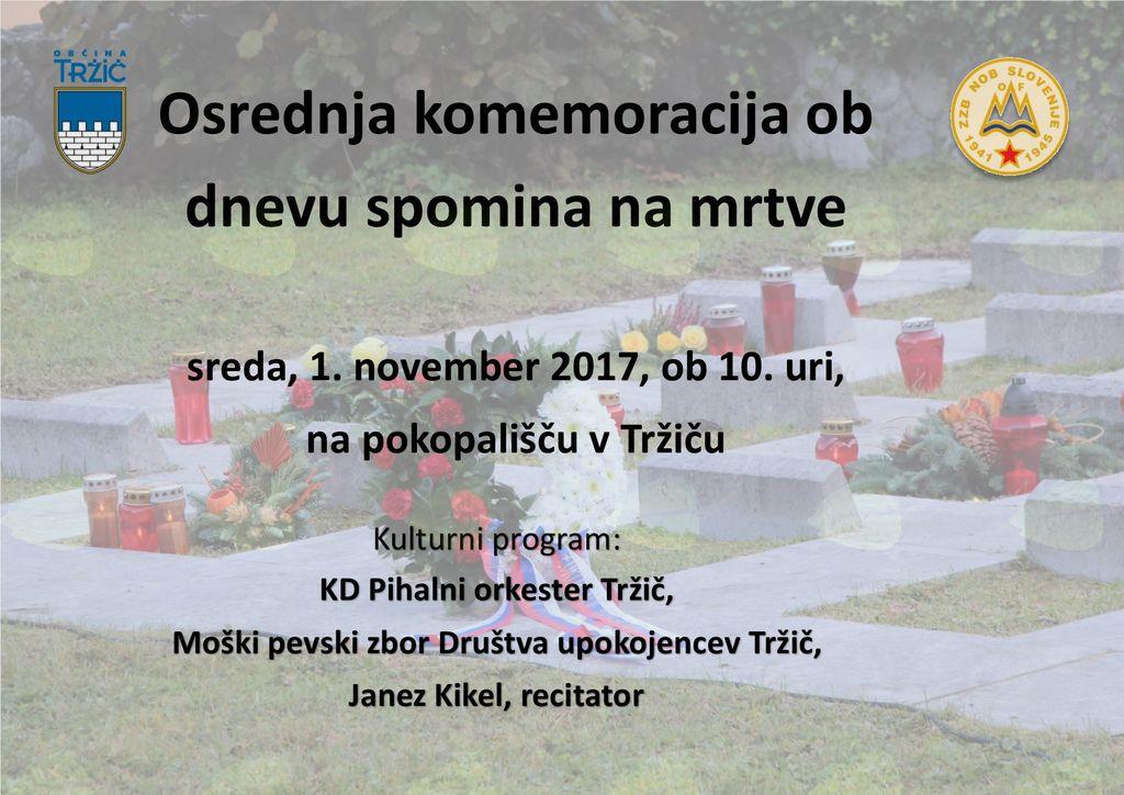 Komemoracija ob dnevu spomina na mrtve