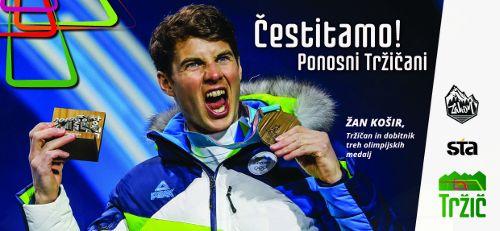Sprejem za bronastega olimpijca Žana Koširja