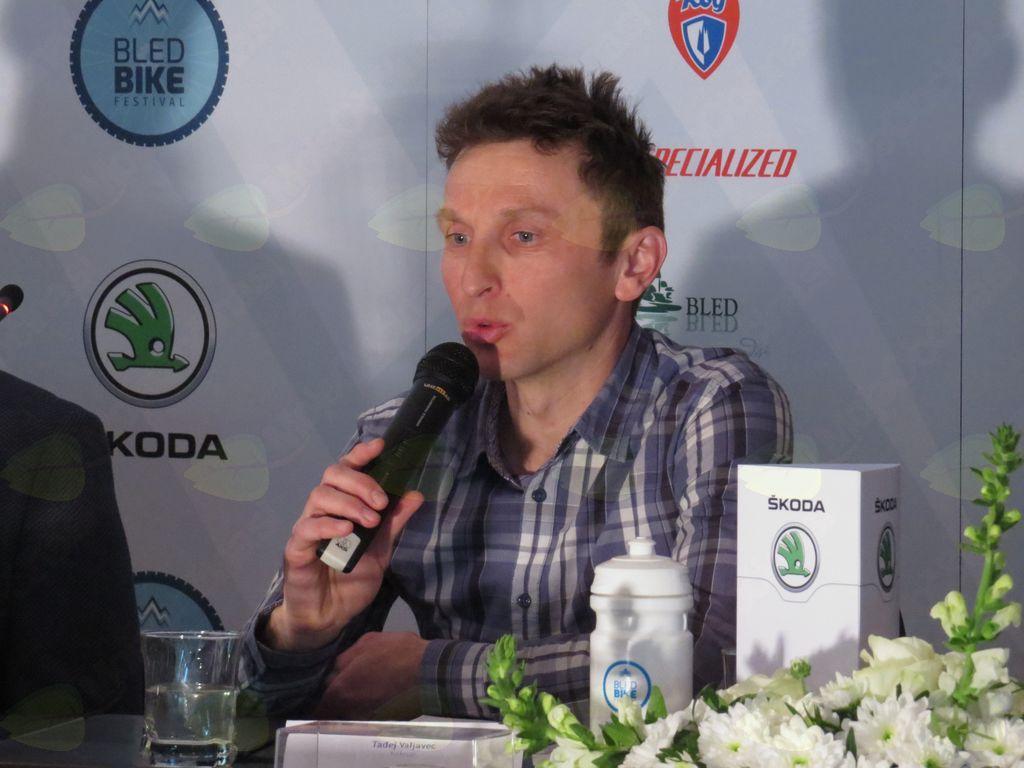 Kolesar in podjetnik Tadej Valjavec (foto Media butik)