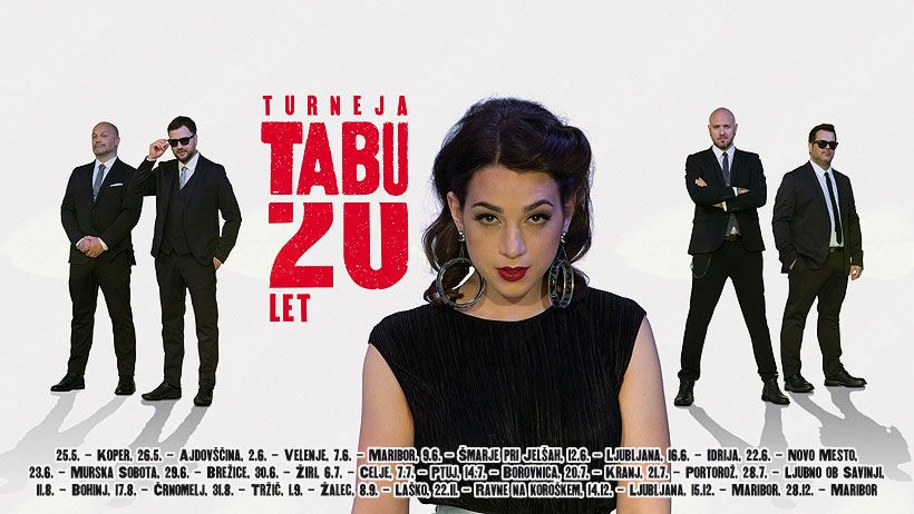 Koncert skupine Tabu ob 20. letnici delovanja na Gorenjski plaži v Tržiču