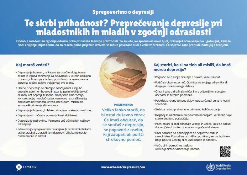 10. oktober je Svetovni dan duševnega zdravja