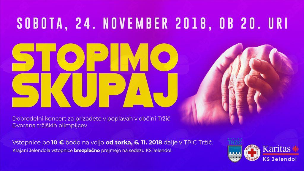 STOPIMO SKUPAJ - Dobrodelni koncert za prizadete v poplavah v občini Tržič
