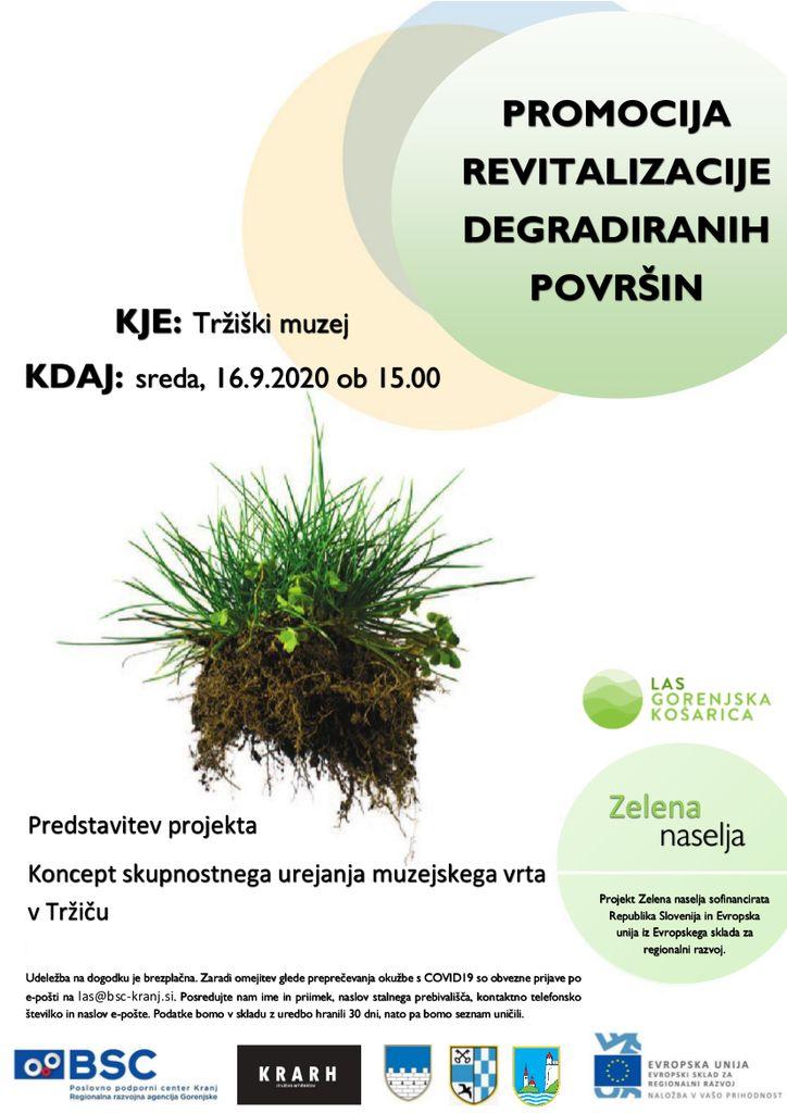 Predstavitev projekta Koncept skupnostnega urejanja muzejskega vrta v Tržiču