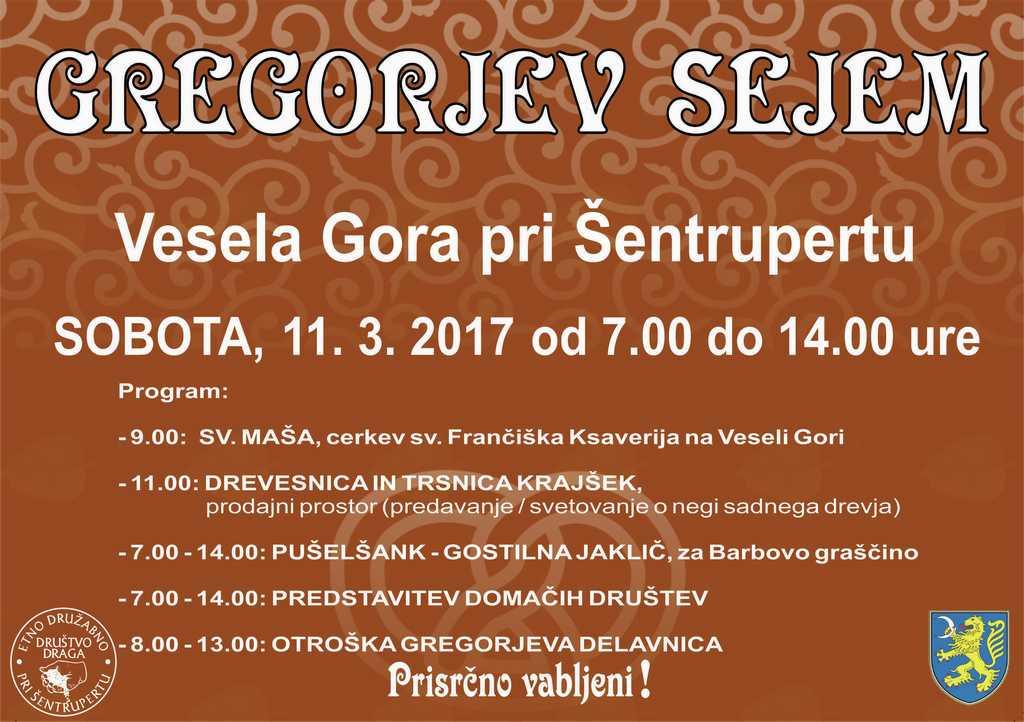 Gregorjev sejem na Veseli Gori pri Šentrupertu