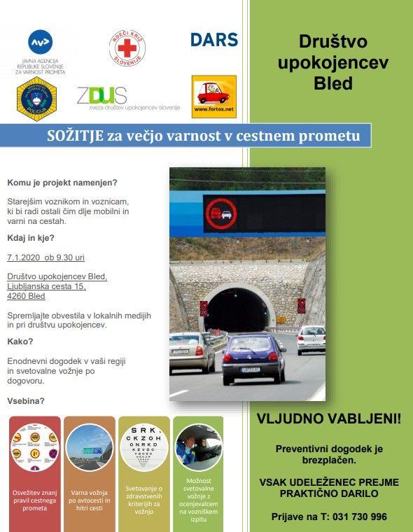 Projekt Sožitje za večjo varnost v cestnem prometu