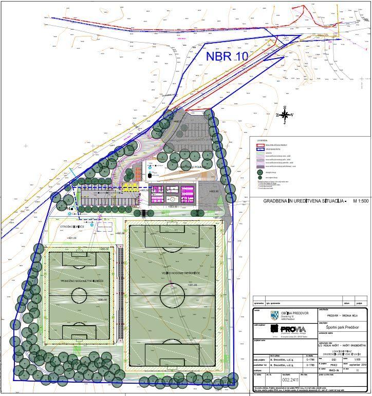 Gradbena situacija Športnega parka Preddvor