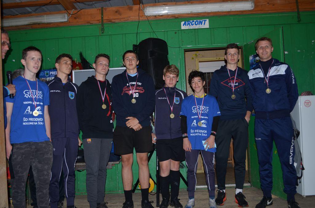 U15 in trener Gregor Pavlič