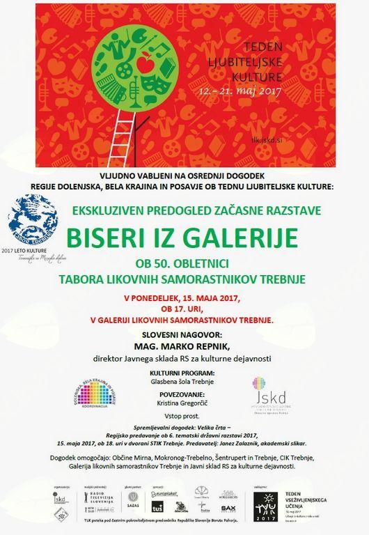 Osrednji dogodek regije Dolenjska, Bela krajina in Posavje ob Tednu ljubiteljske kulture