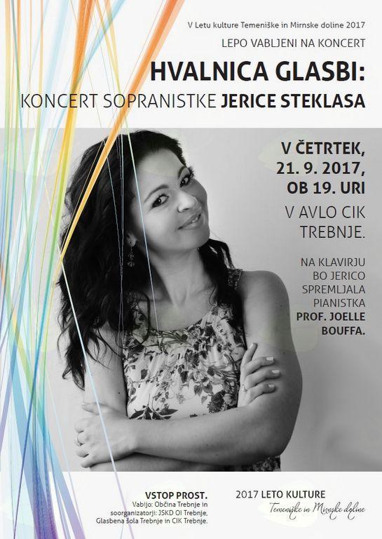 Hvalnica glasbi: Koncert sopranistke Jerice Steklasa