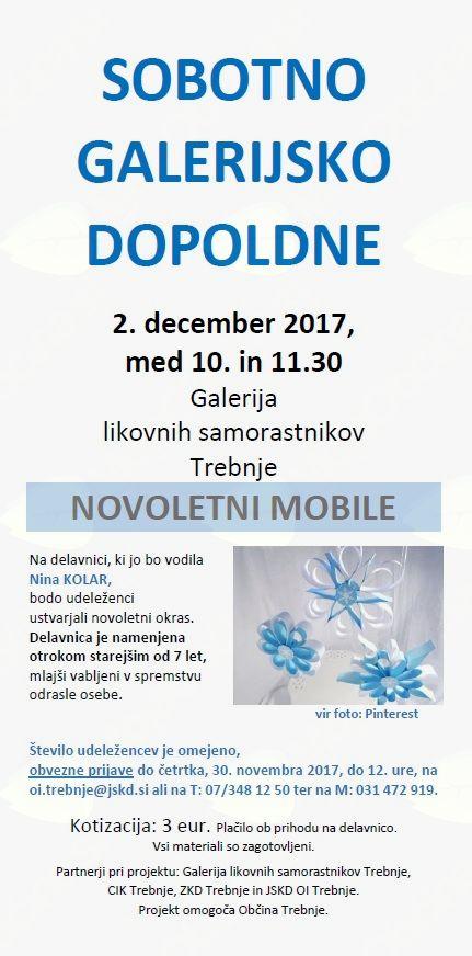Sobotno galerijsko dopoldne: Novoletni mobile