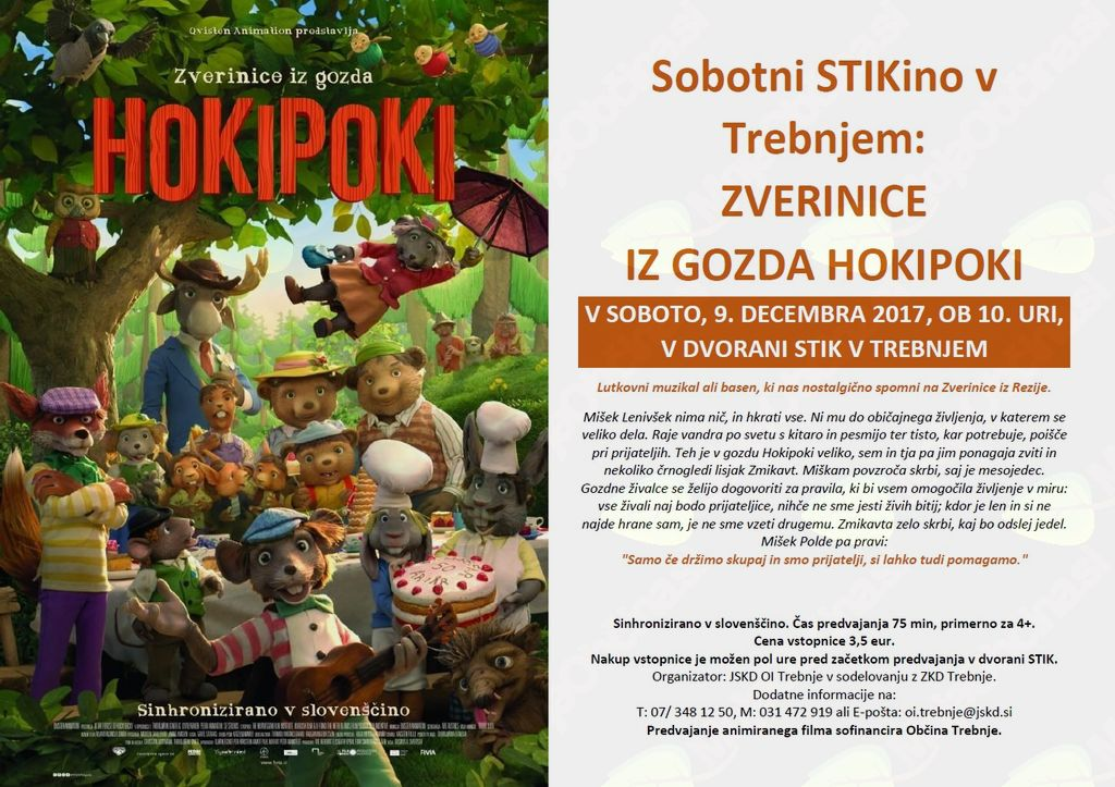 Sobotni STIKino: Zverinice iz gozda Hokipoki