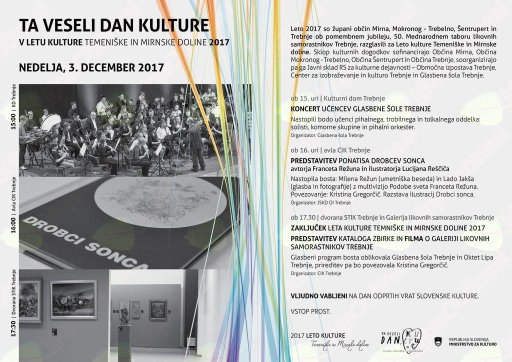 Ta veseli dan kulture v Letu kulture Temeniške in Mirnske doline:Predstavitev ponatisa Drobcev sonca
