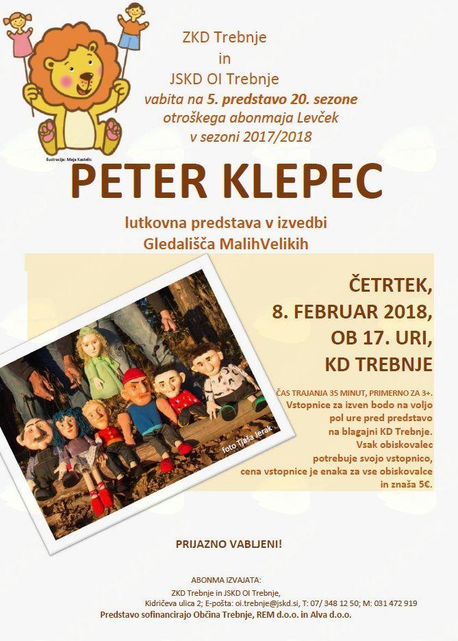 5. predstava 20. sezone otroškega abonmaja Levček: Peter Klepec