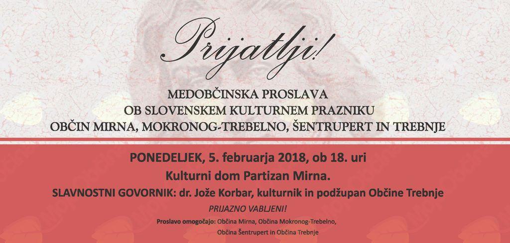 Medobčinska proslava ob slovenskem kulturnem prazniku
