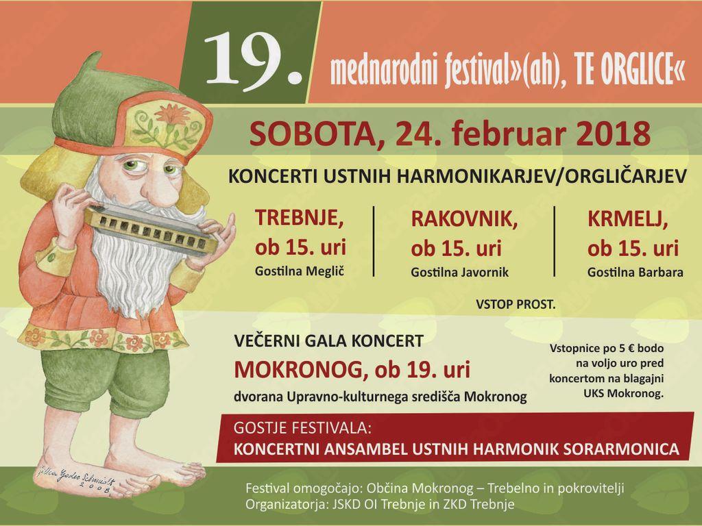 """19. mednarodni festival """"(ah), TE ORGLICE"""" tudi v Trebnjem"""
