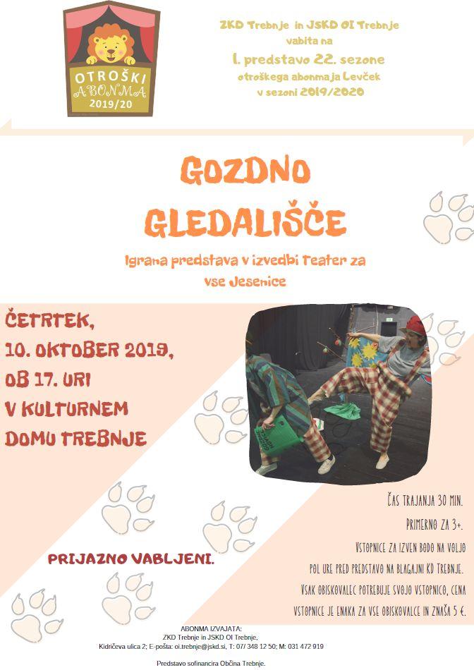 Otroški abonma Levček - Gozdno gledališče
