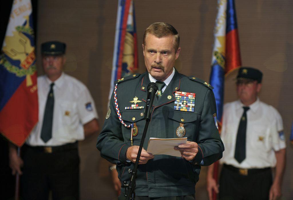 Slavnostni govornik polkovnik Srečko Lisjak. Foto: Fotoatelje Pavšič Zavadlav