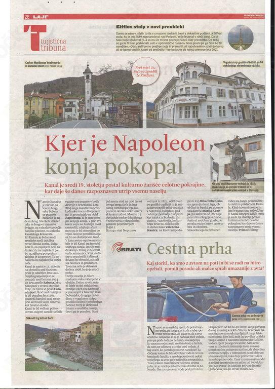 Slovenske novice, Turistična tribuna, 16.3.2018