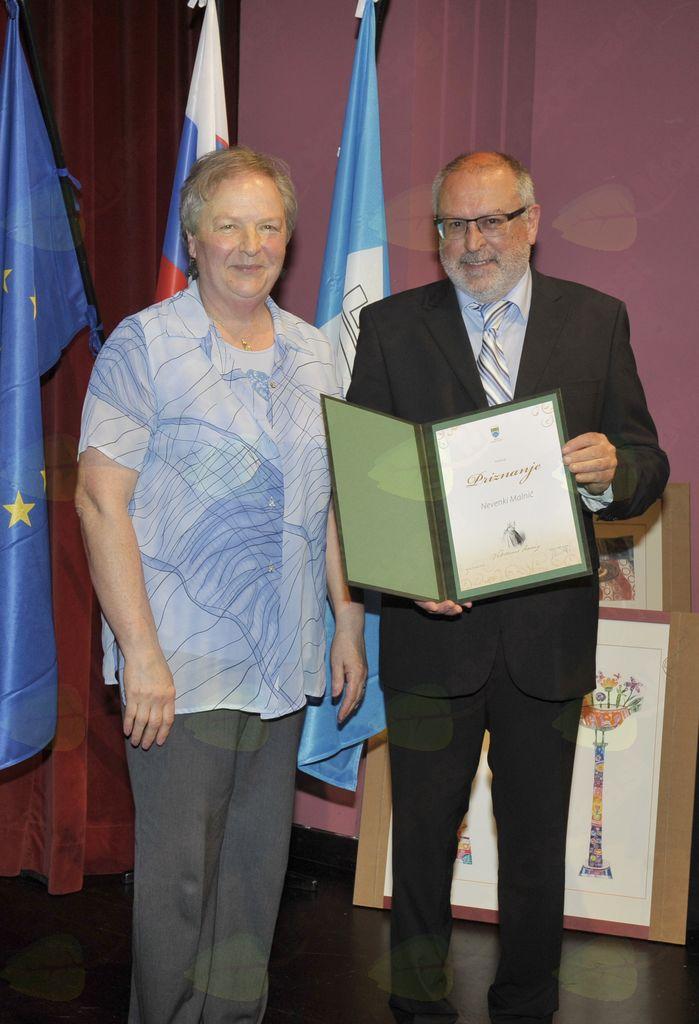 Nevenka Malnič in župan Andrej Maffi. Foto: Foto atelje Pavšič Zavadlav