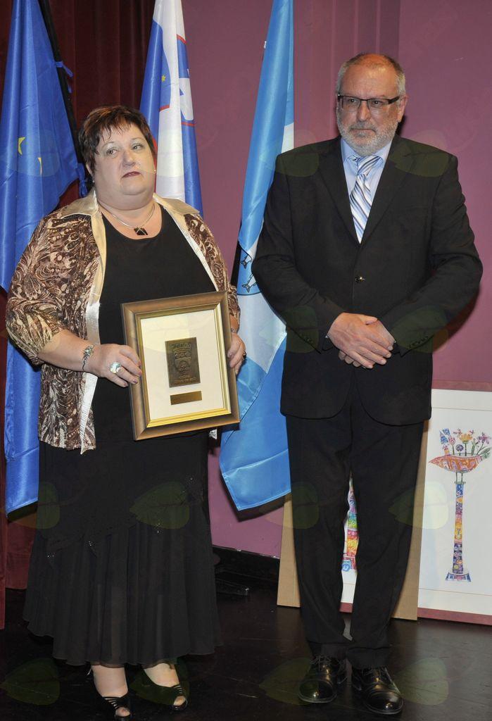 Vanja Cotič in župan Andrej Maffi. Foto: Foto atelje Pavšič Zavadlav