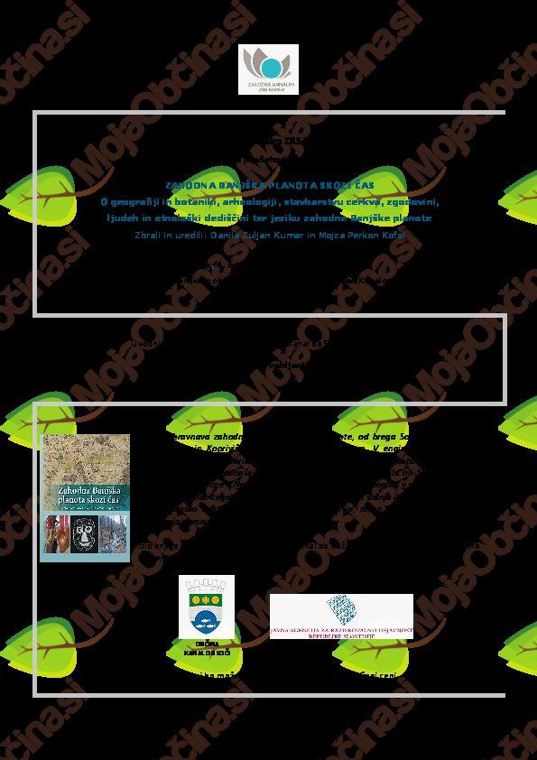 Predstavitev monografije Zahodna Banjška planota skozi čas