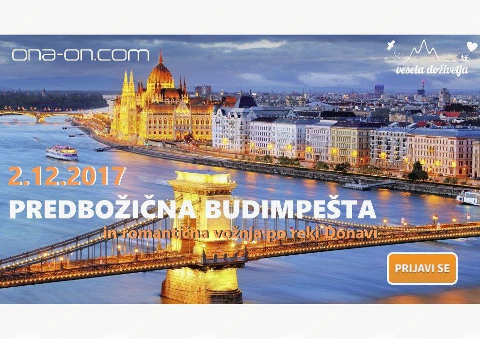 Predbožična Budimpešta in romantična vožnja po reki Donavi