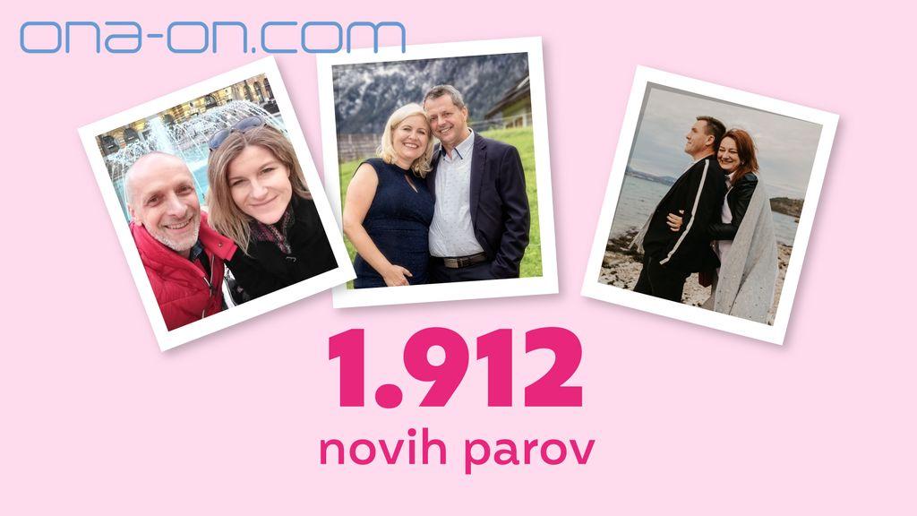 Ljubezen na ONA-ON.COM v 2020: Rekordnih 1.912 novih parov!