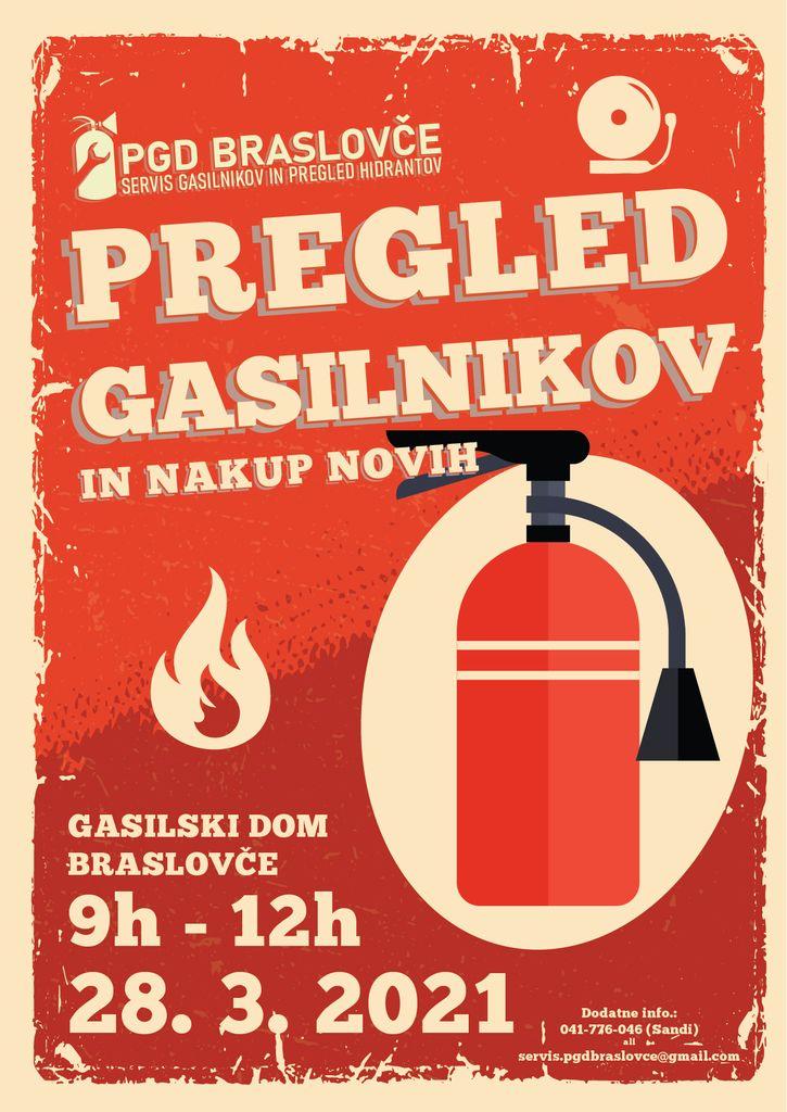 PGD Braslovče organizira pregled gasilnikov